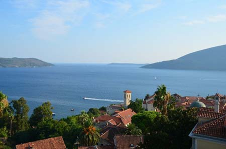 Aerial view of Herceg Novi