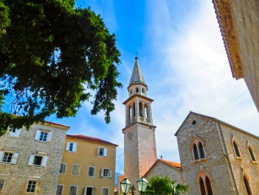 Budva church tower