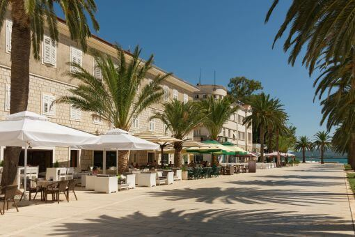 Tivat seafront cafes
