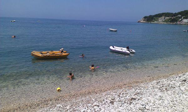 Beach close to villa