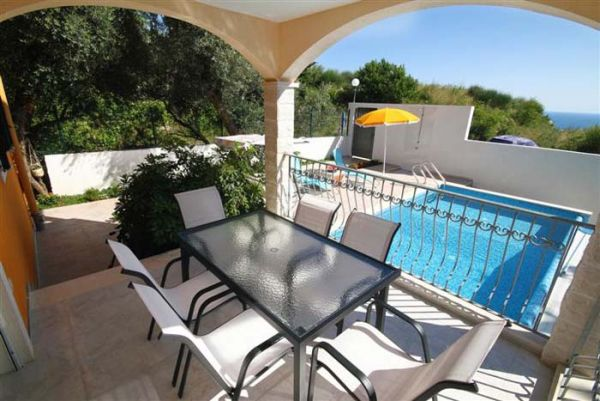 Ground floor terrace and pool