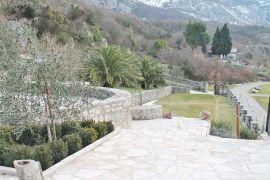 Approach from villa