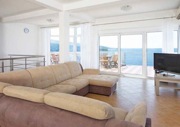 Living room and view to the sea