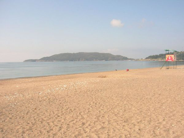 Sandy beach (typical example)