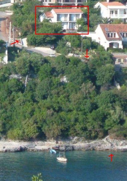 Proximity of villa to water's edge